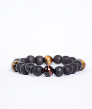 Load image into Gallery viewer, Stoned Matte Tiger Touch Bracelet