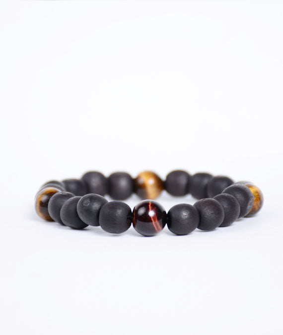 Stoned Matte Tiger Touch Bracelet