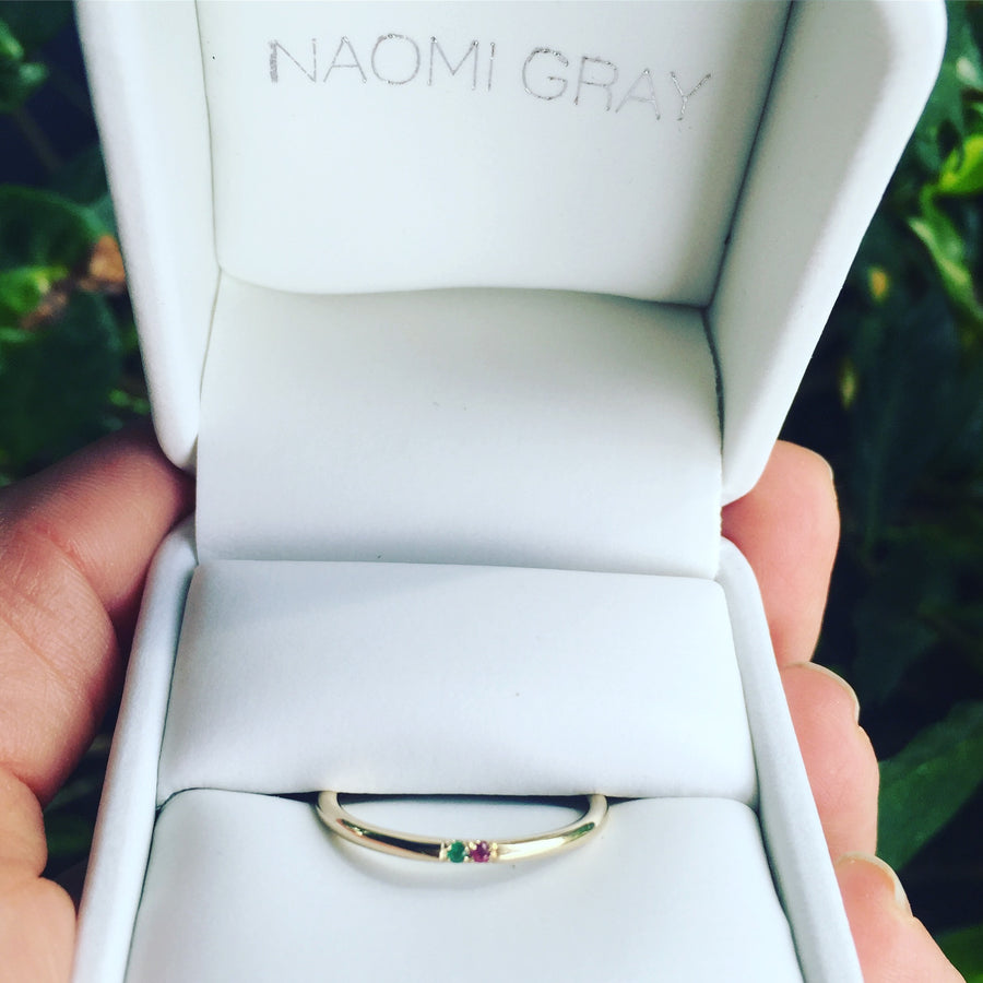 Custom Birthstone Band | Naomi Gray Jewelry