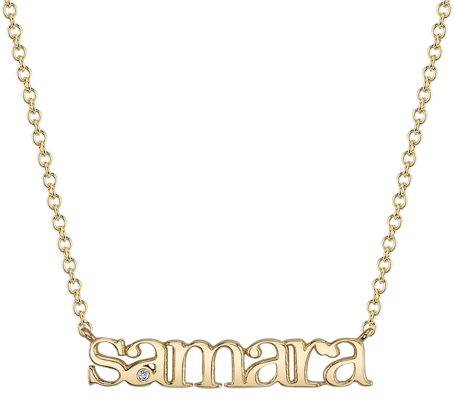 Custom Tiny Name Necklace | Naomi Gray Jewelry