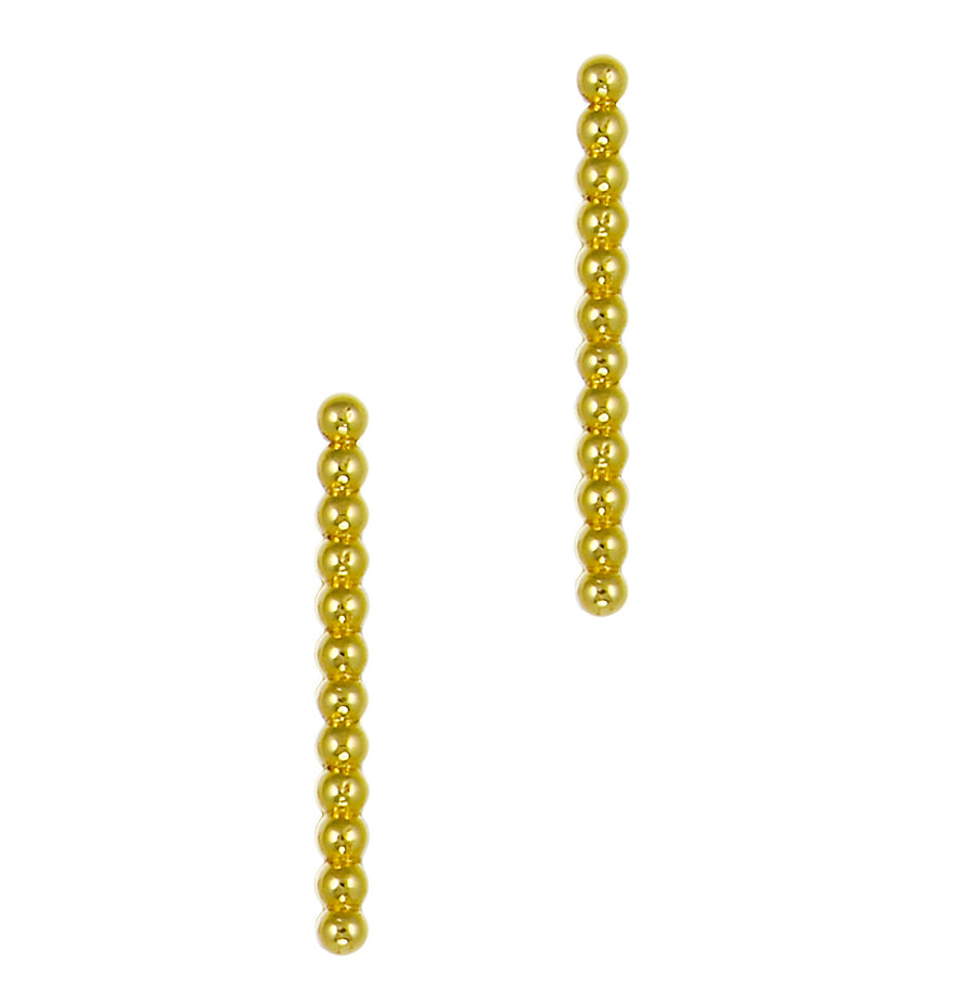 Long Beaded Bar Studs | Naomi Gray Jewelry