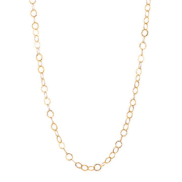 Hammered Long Chain | Naomi Gray Jewelry