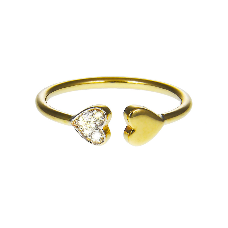 Double Heart Cuff Ring | Naomi Gray Jewelry