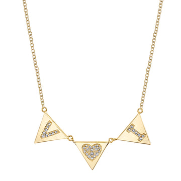 Custom Triangle Initial Necklace | Naomi Gray Jewelry