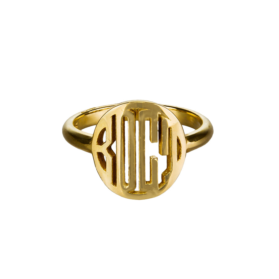 Custom Initial Signet Ring | Naomi Gray Jewelry