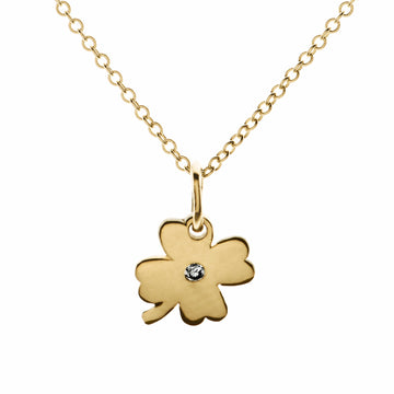 Tiny Love Clover Diamond Necklace | Naomi Gray Jewelry