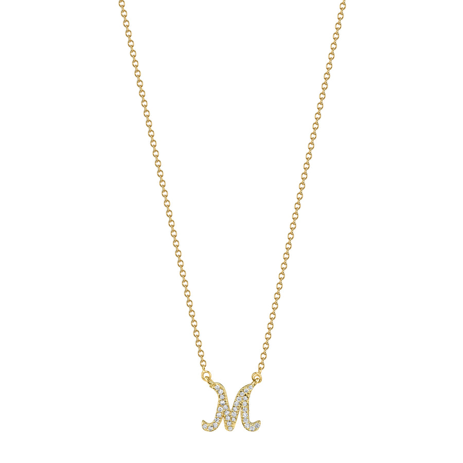 Custom Pave Initial Diamond Necklace