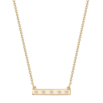 Custom Diamond Bar Necklace