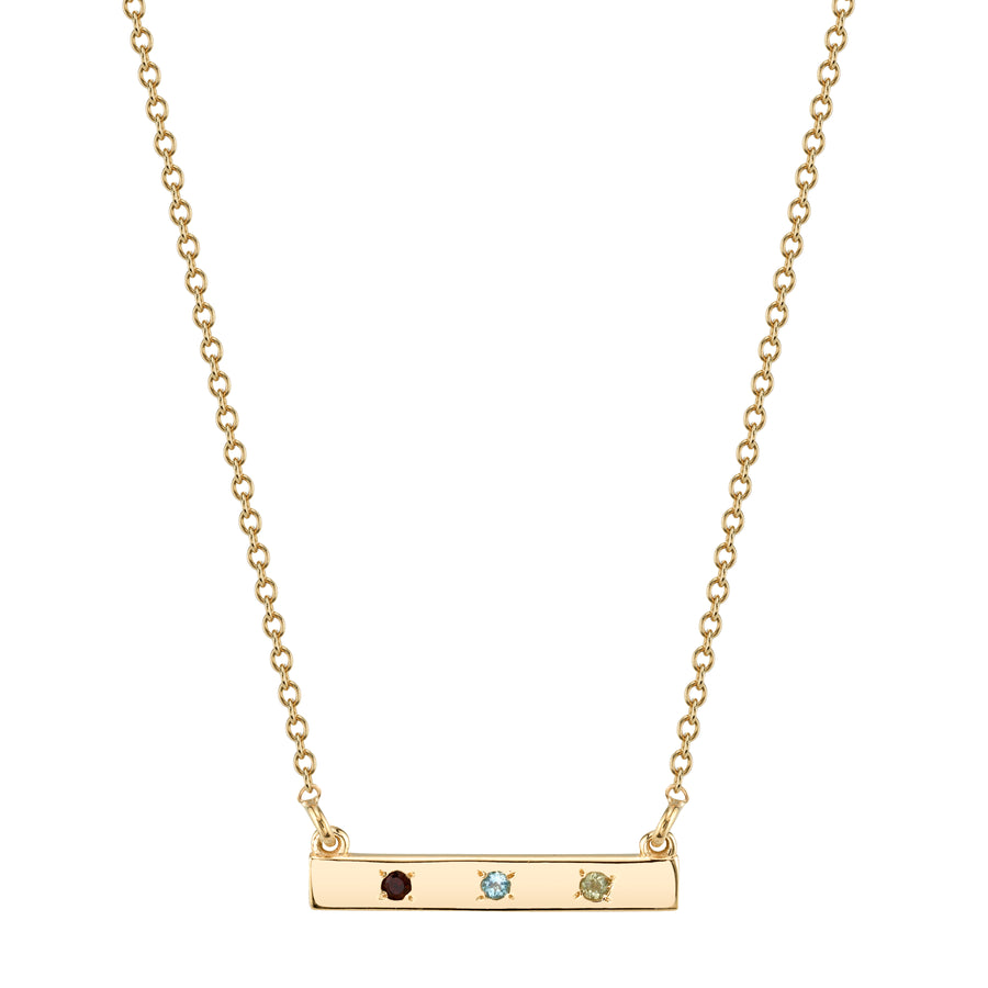 Custom Birthstone Bar Necklace