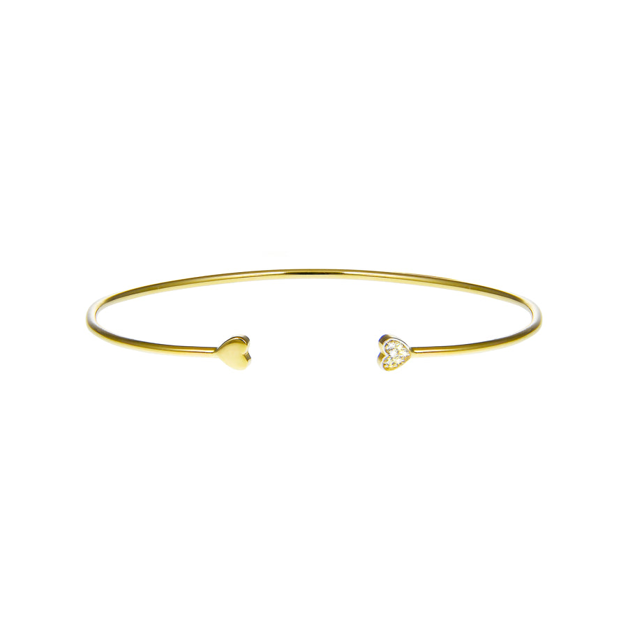 Double Heart Cuff Bracelet | Naomi Gray Jewelry