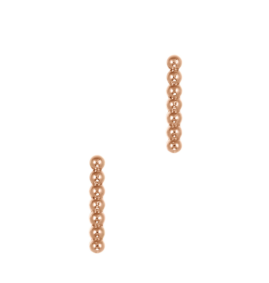 Beaded Bar Stud Earrings | Naomi Gray Jewelry