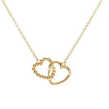 Custom Interlocking Hearts Necklace | Naomi Gray Jewelry