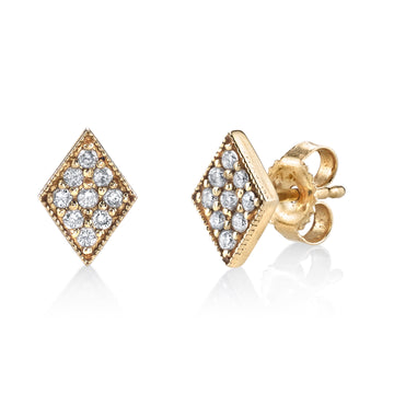 Tiny Pave 9 Diamond Studs | Naomi Gray Jewelry