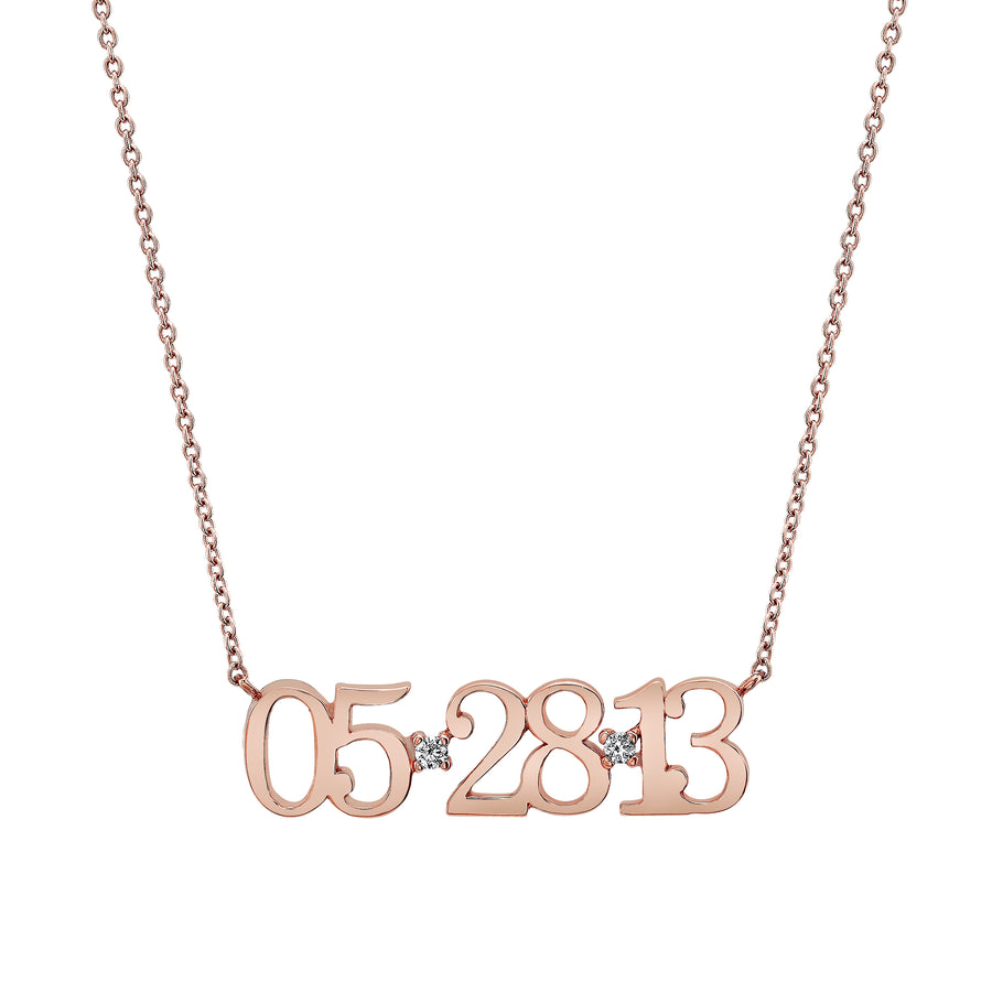 Custom Date Necklace | Naomi Gray Jewelry