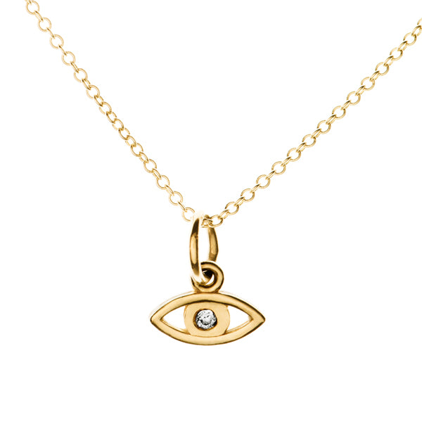 Tiny Protective Evil Eye Necklace | Naomi Gray Jewelry