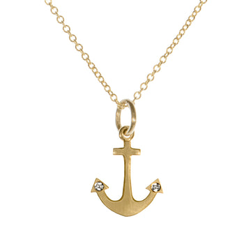 Tiny Hopeful Anchor Necklace | Naomi Gray Jewelry