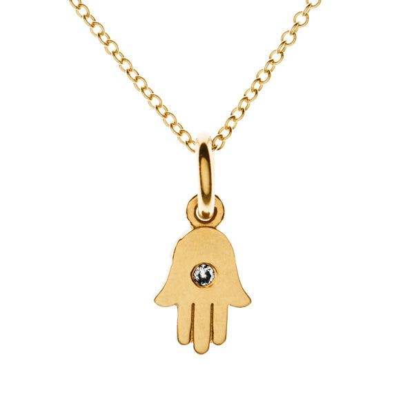 Tiny Protective Hamsa Necklace | Naomi Gray Jewelry