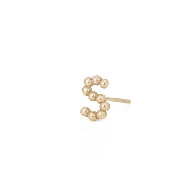 Beaded Initial Studs | Naomi Gray Jewelry