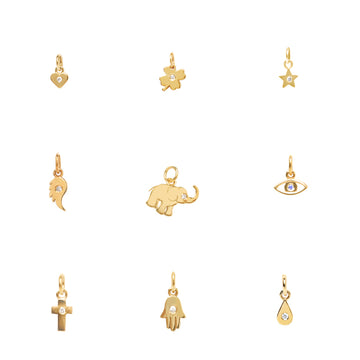 Tiny Love & Luck Diamond Charms | Naomi Gray Jewelry