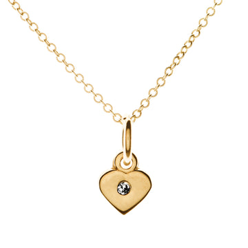 Tiny Love Heart Diamond Necklace | Naomi Gray Jewelry