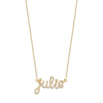 Custom Diamond Covered Dainty Name Necklace