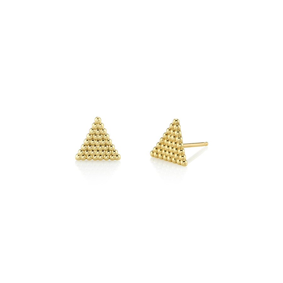 Beaded Triangle Studs