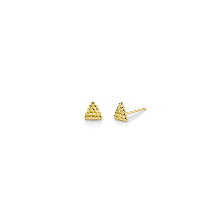 Tiny Beaded Triangle Studs