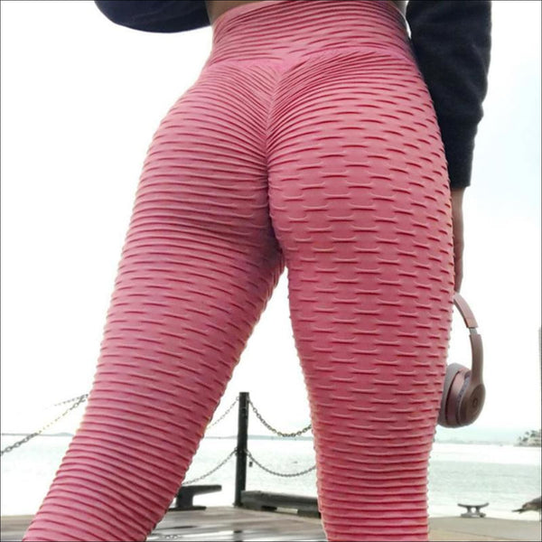 NORMOV Fitness Leggings Women Polyester Ankle-Length Standard Fold Pants Elasticity Slim Push Up Female multiple color Legging