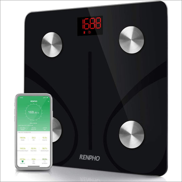 RENPHO Bluetooth Body Fat Scale Smart BMI Scale Digital Bathroom Wireless Weight Scale Body Composition Analyzer with Smartphone App 396 lbs