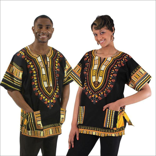Unisex Traditional Dashiki - Small / BK/YI