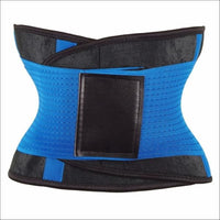 women slimming body shaper waist Belt girdles Control Waist trainer corset Shapwear modeling strap - Blue / XXL / China