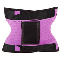 women slimming body shaper waist Belt girdles Control Waist trainer corset Shapwear modeling strap - Purple / S / China