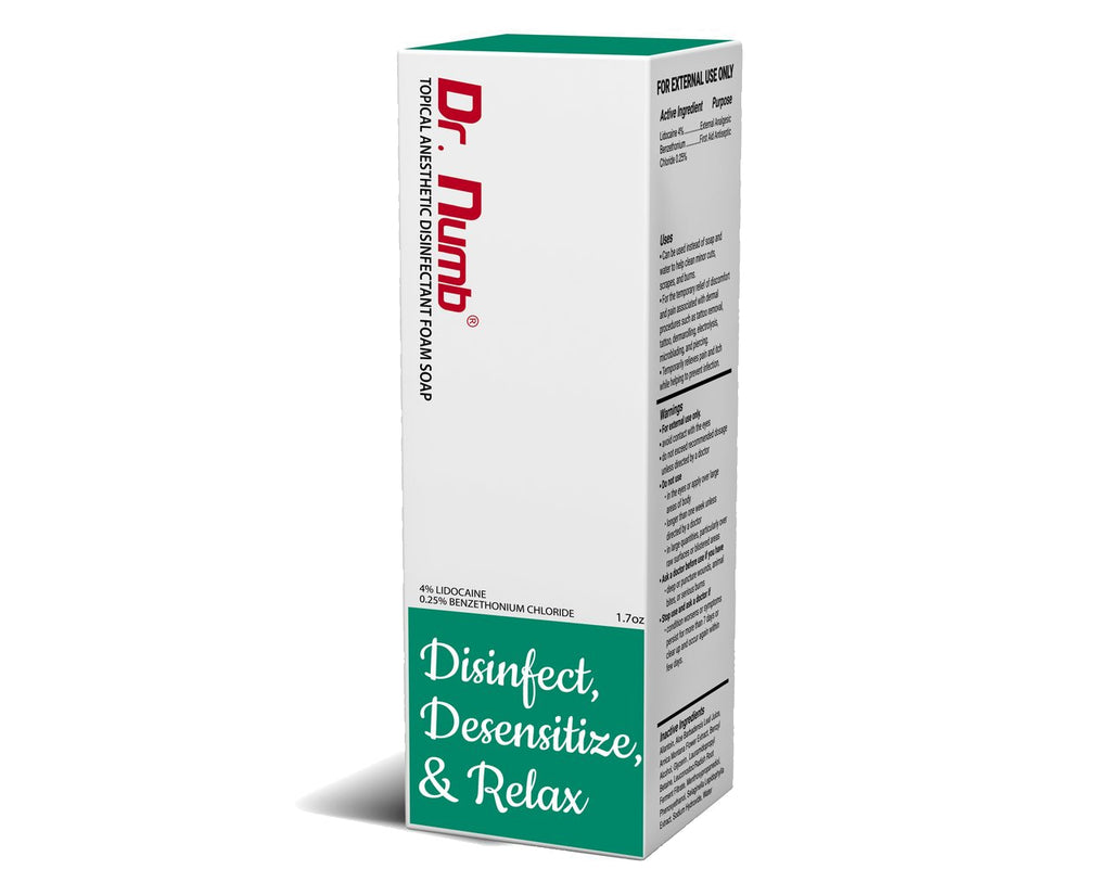 1 x Dr. Numb® Topical 4% Anesthetic Disinfectant Foam Soap