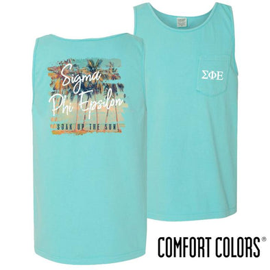 Fraternity Vintage Palms Comfort Colors Tank