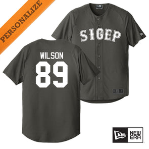 New! Fraternity Personalized New Era Graphite Baseball Jersey