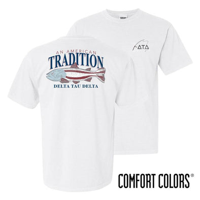 Fraternity American Trout Comfort Colors Tee