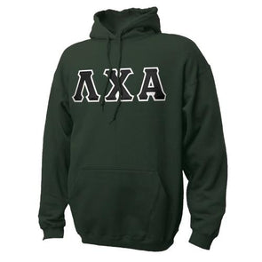 Fraternity True Colors Hoodie with Sewn On Letters