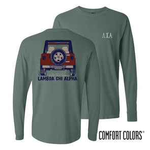 Fraternity Comfort Colors Jeep Long Sleeve Tee
