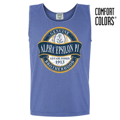 Fraternity Faded Blue Comfort Colors Tank