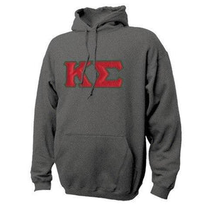 Fraternity Hoodie with Sewn On Letters
