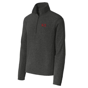 Fraternity Charcoal 1/4-Zip Microfleece Jacket