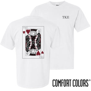 Fraternity Comfort Colors White King of Hearts Short Sleeve Tee