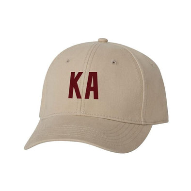 Fraternity Structured Greek Letter Hat