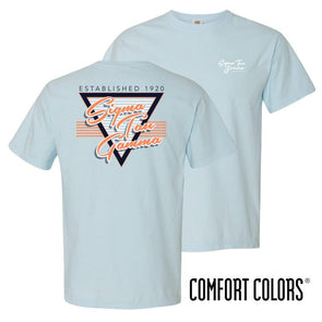 New! Fraternity Comfort Colors Retro Flash Tee