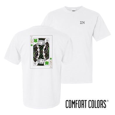 New! Comfort Colors White Short Sleeve Clover Tee