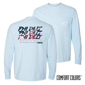 New! Comfort Colors Chambray Long Sleeve Urban Tee