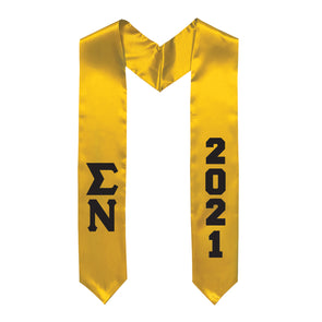 New! Fraternity Graduation Stole