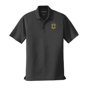 Fraternity Personalized Crest Black Performance Polo