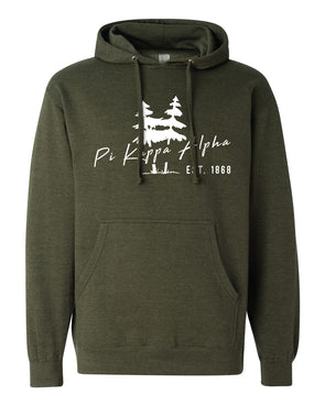 New! Fraternity Army Green Wilderness Hoodie