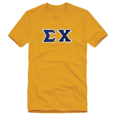 Fraternity Sim Stitch Letter Tee